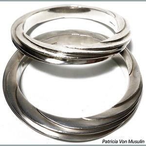 Patricia Von Musulin Jewelry - Patricia Von Musulin Etched Sterling 925 Bracelets